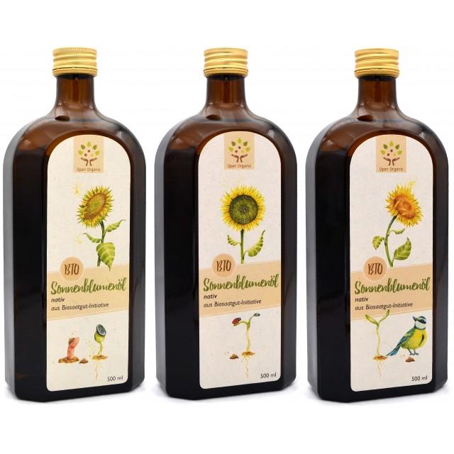 Bio-Sonnenblumenöl 1,5l (3x...
